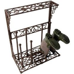 Cast Iron Boot Rack with Scraper