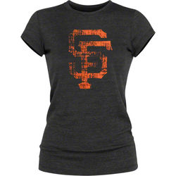 San Francisco Giants Women's Black Tri-Blend Tunic Length T-Shirt
