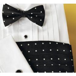 Silk Dot Bow Tie & Cummberbund Set