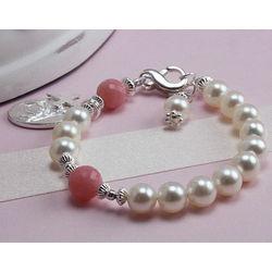 Elegant Freshwater Cultured Pearl Baby Rosary Bracelet