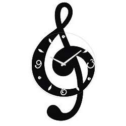 Musical Clef Wall Clock