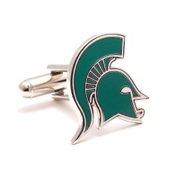 Michigan State Spartans Enamel Cufflinks