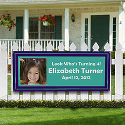 Personalized You Name It Photo Party Banner