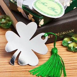 Shamrock Four Leaf Clover Bookmark