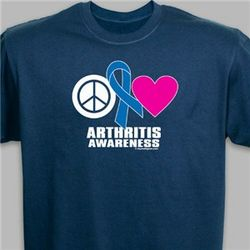 Peace Hope Love Arthritis Awareness T-Shirt
