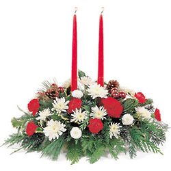 Candlelight Christmas Centerpiece