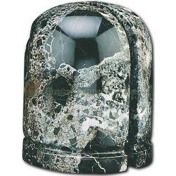 Half Cylinder Zebra Marble Bookends