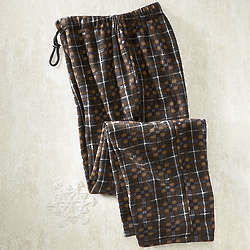 Men's Plaid Fleece Pants