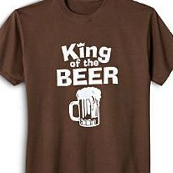 Brown King of the Personalized T-Shirt