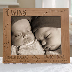 Twin Love 8x10 Personalized Frame