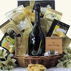 J Cuvee Brut Sparkling Wine Gift Basket