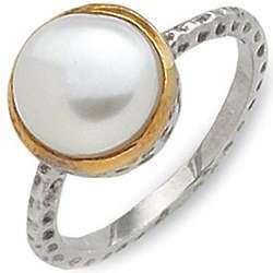 Nouveau Pearl Solitaire Ring