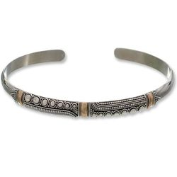 Gladiola Gold-Plated Cuff Bracelet