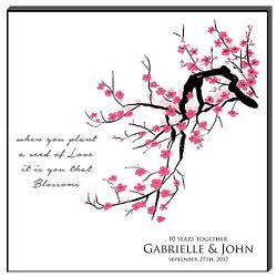 Personalized Cherry Blossom Wall Art Panel