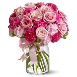 So Beautiful Pink Flowers in Vase