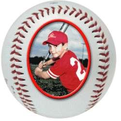 Personalized Baseball Photo Ball Trophy