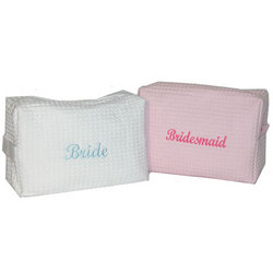 Wedding Party Waffle Cosmetic Bag
