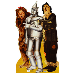 Lion, Tinman, and Scarecrow Cutout