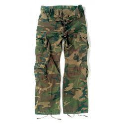Woodland Camo Vintage Paratrooper Cargo Pants