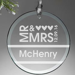 Mr. and Mrs. Personalized Ornament
