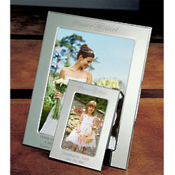 Personalized Flower Girl Silver Picture Frame