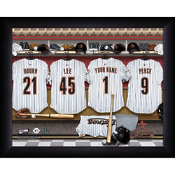 Personalized Houston Astros MLB Locker Room Print