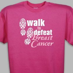 Walk to Defeat Breast Cancer Hot Pink T-Shirt