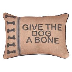 Give the Dog a Bone Decorative Pillow
