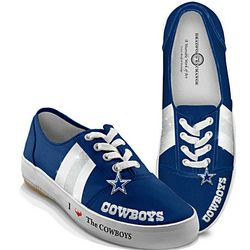 Dallas Cowboys Women's Canvas Sneakers