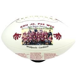 Personalized Mid Size White Football with 2 Printable Panels