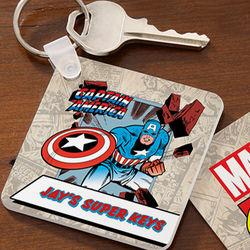 Personalized Marvel Comics Superhero Key Ring