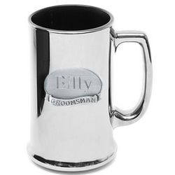 Personalized Pewter Medallion Metallic Mug