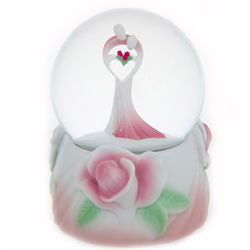 Can't Help Falling in Love with You Floral Snow Globe