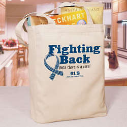 Fighting Back ALS Awareness Canvas Tote Bag