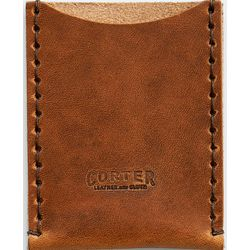 Brown Leather Business Card Sleeve