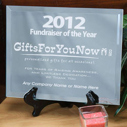 Personalized Fundraiser of the Year Mirror Plaque