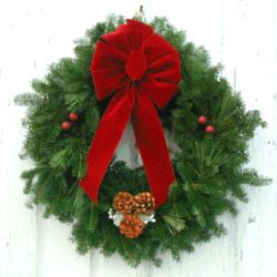 "Merlot 24"" Christmas Wreath"