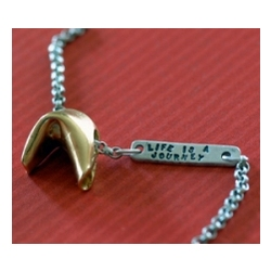 Fortune Cookie Necklace in Sterling Silver