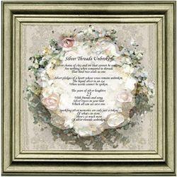 Silver Threads Unbroken 25th Anniversary Calligra-Phrase