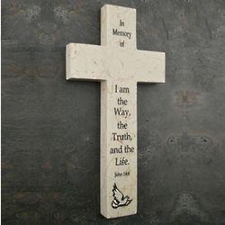 Memorial Jerusalem Stone Wall Cross