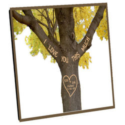 I Love You This Much Custom Photo Panel with Easel