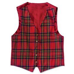 Reversible Merino Wool Tartan Vest