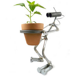 Grobot Sculpture Planter