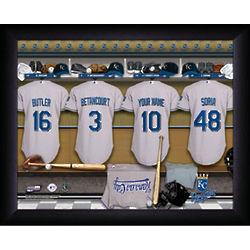 Personalized Kansas City Royals MLB Locker Room Print