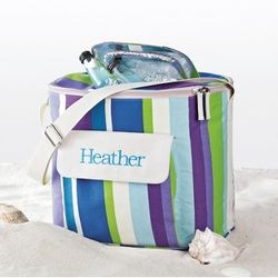 Striped Beach Cooler