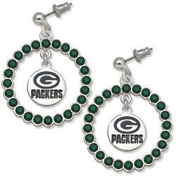 Green Bay Packers Spirit Crystal Earrings