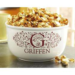 Personalized Initial Name Popcorn Bowl