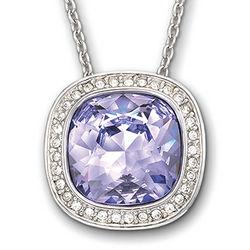 Lavender Swarovski Crystal Simplicity Pendant