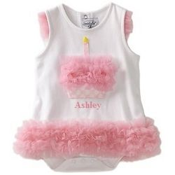 Pink Cupcake All in One 0-6 Months Baby Romper