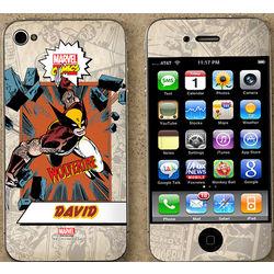 Personalized Marvel Superhero iPhone Skin